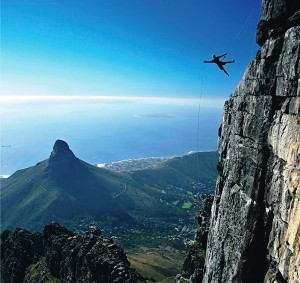 Abseil in Africa Cape Town Table Mountain.