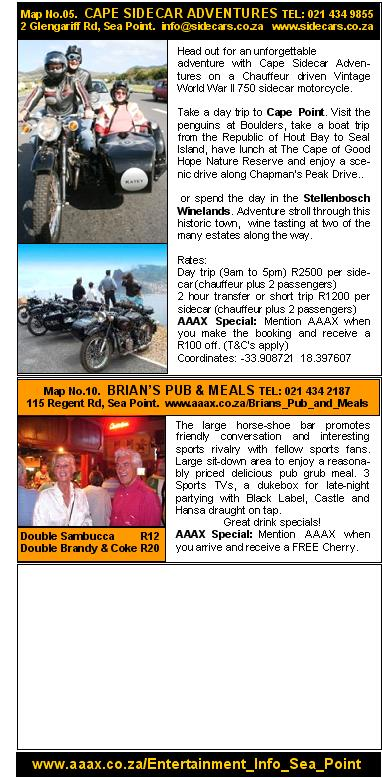AAAX Marketing Services Entertainment Info Sea Point