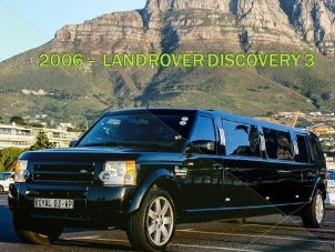 Land Rover Discovery Limousine Cape Town.